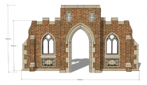 The Gothic castle entrance folly kit